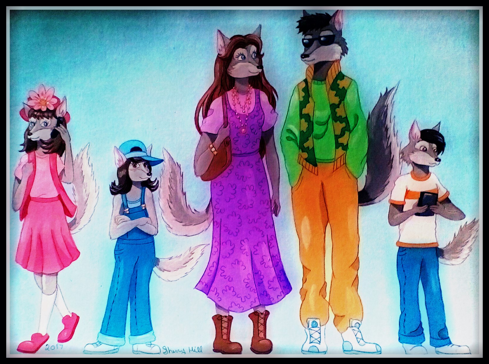 1990's Wolf Family by FoxyFlapper