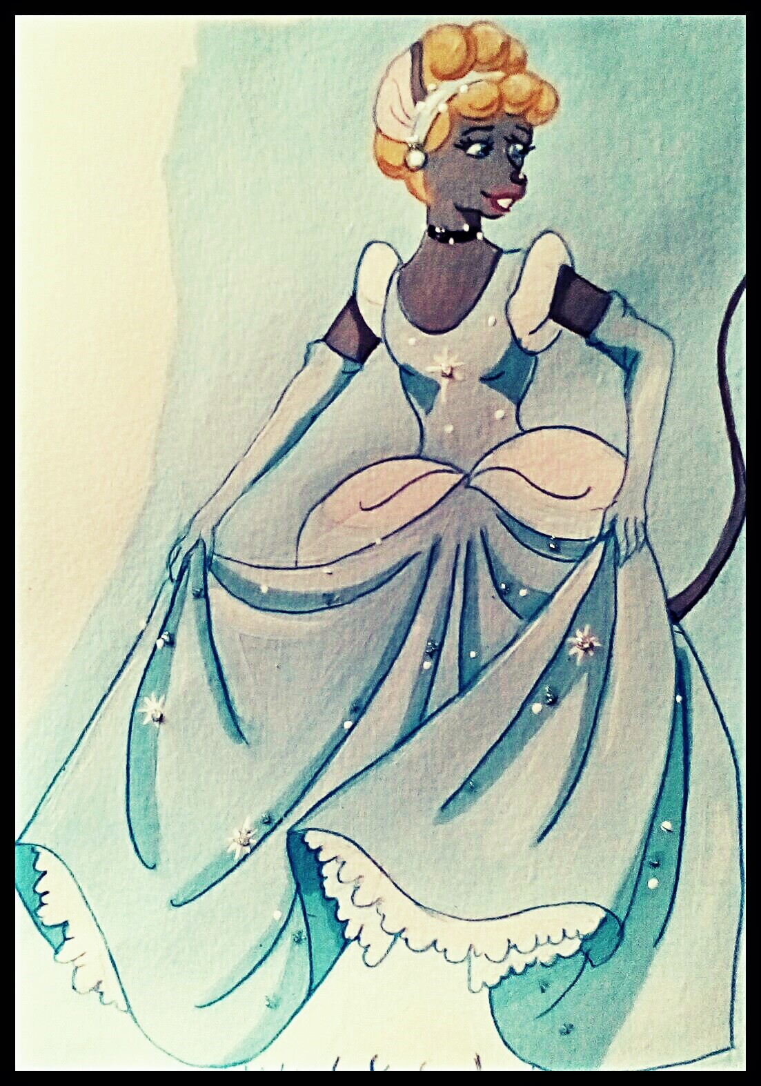 Cinderella Mouse by FoxyFlapper