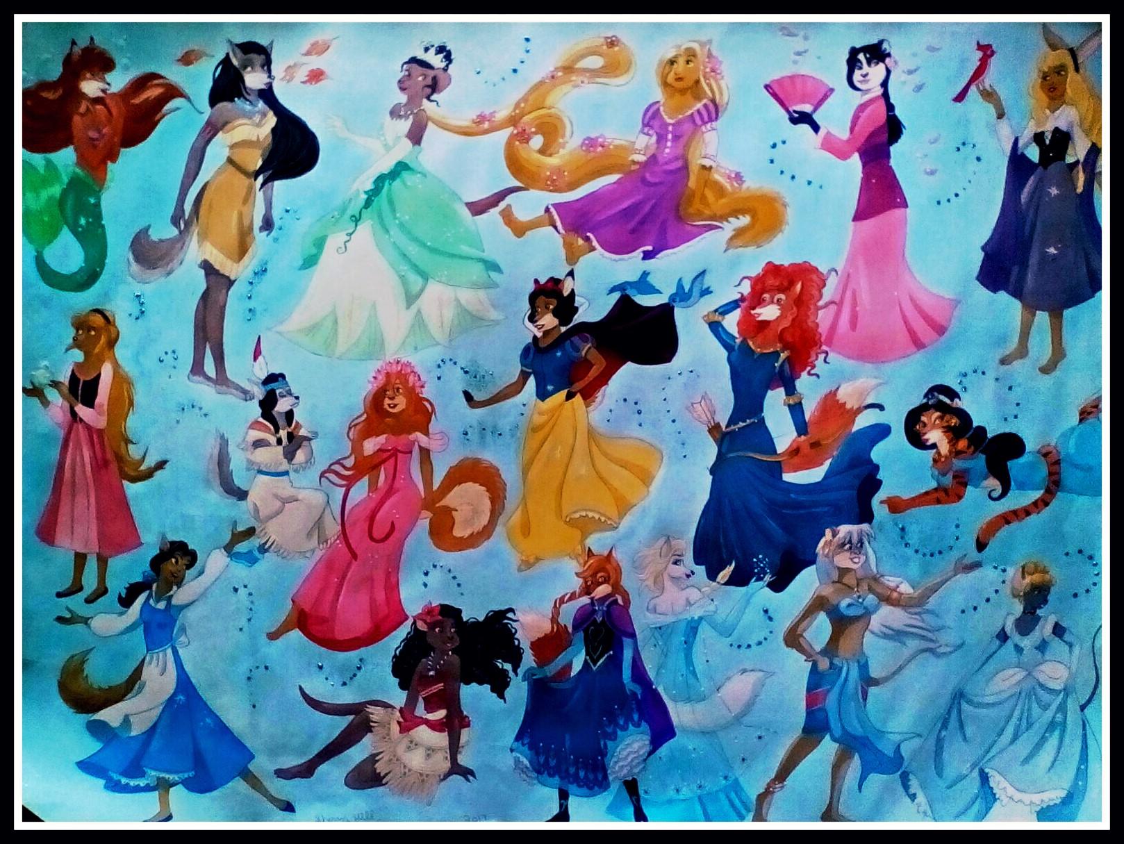 Disney Furry Princesses by FoxyFlapper
