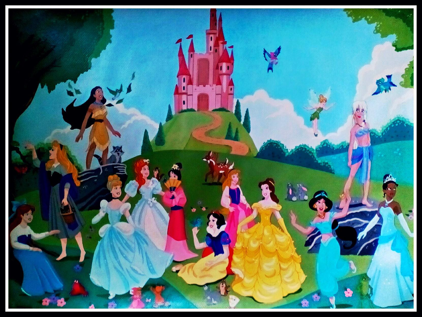 Disney Princesses by FoxyFlapper