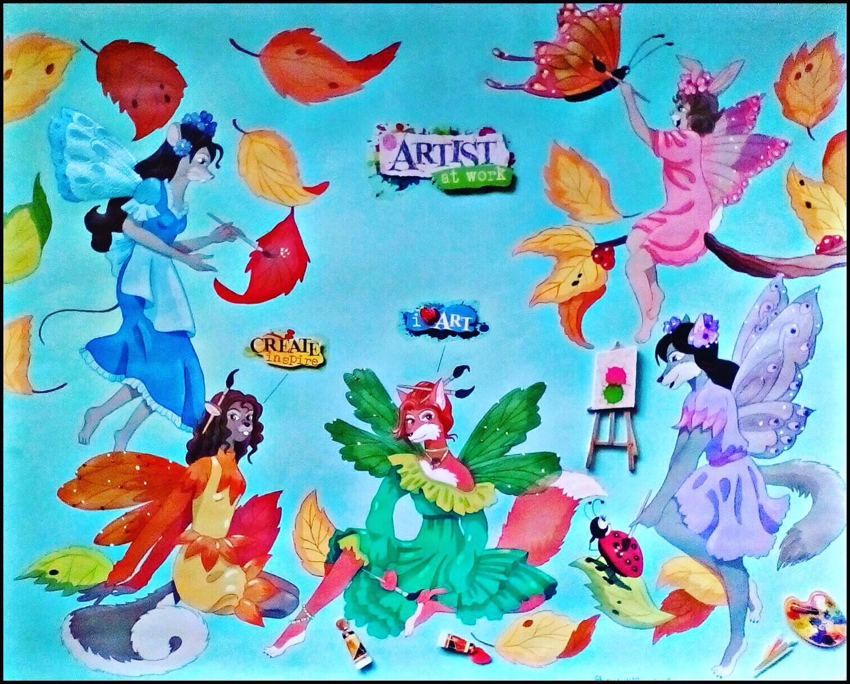 Fall Fairies by FoxyFlapper