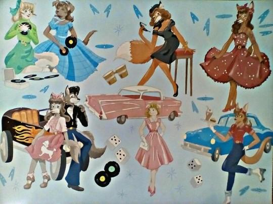 1950's Girls by FoxyFlapper