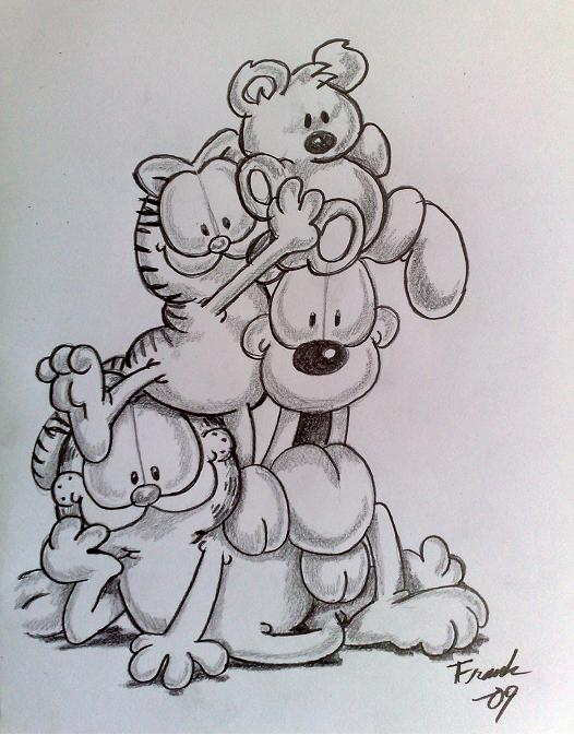 Garfield sketch by Frankyboy