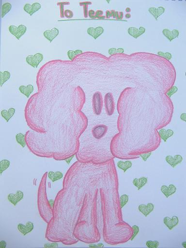 Pink Puppy for Teemu by FreakyMangaGirl