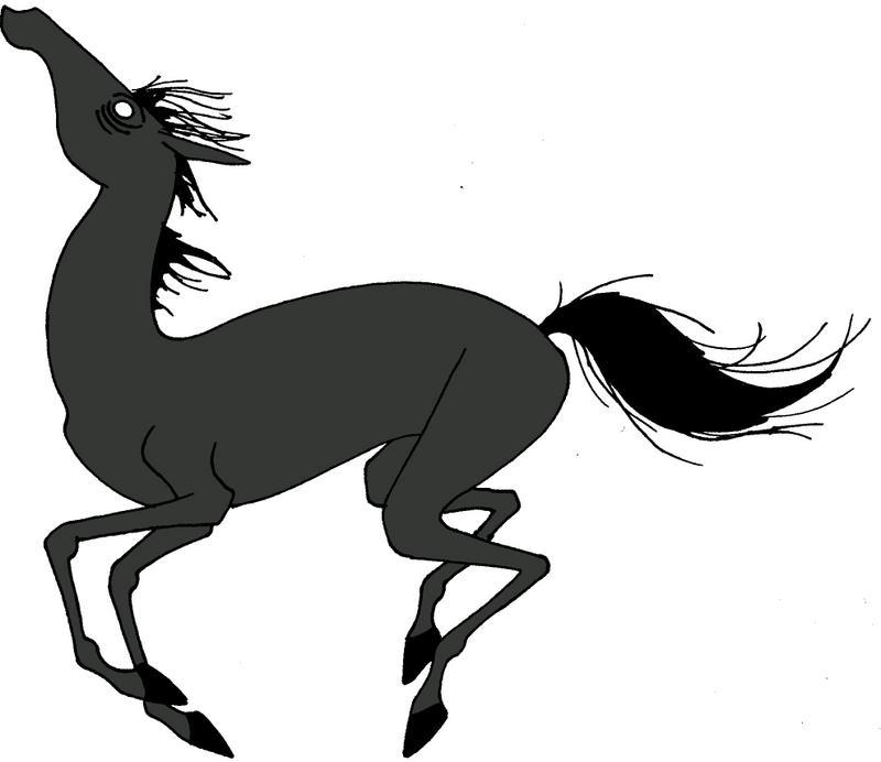 Tim Burton Horse by FreddyJasonV