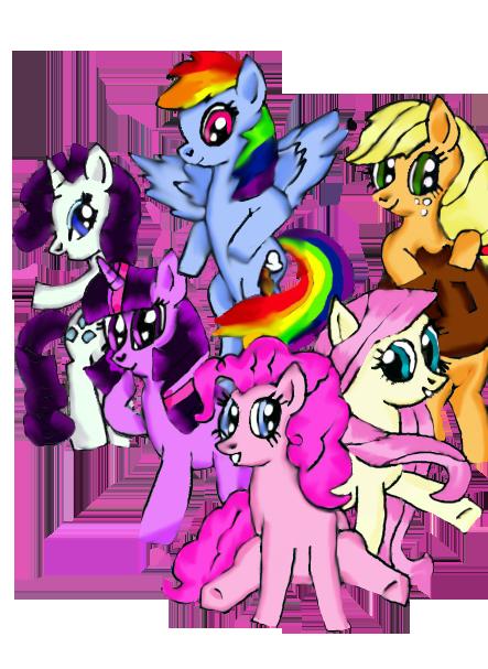 Pony Group by FrozenPonyPrincess