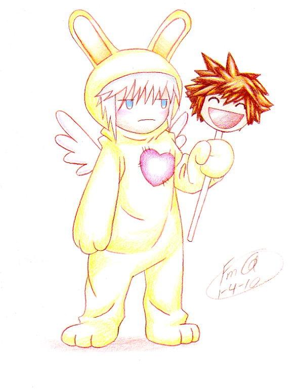 Bunny Riku by FudgemintGuardian