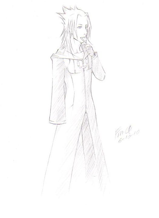 Xemnas Sketch by FudgemintGuardian