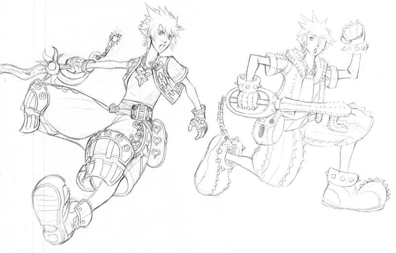 Costume ideas for Sora by FudgemintGuardian