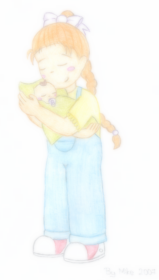 Ann with baby by fizzly