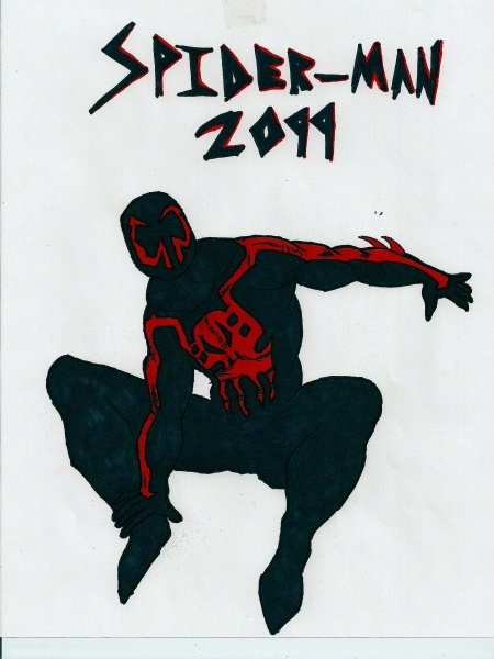 Spider-man 2099 BS by flamedemon