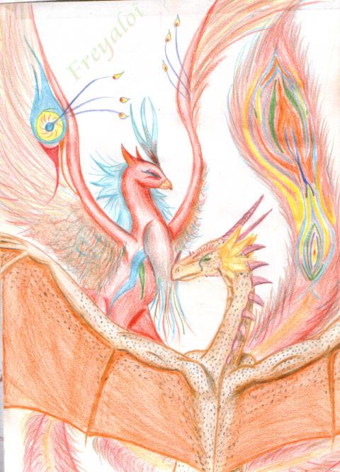 Kai and Zerra (monster) by freyaloi
