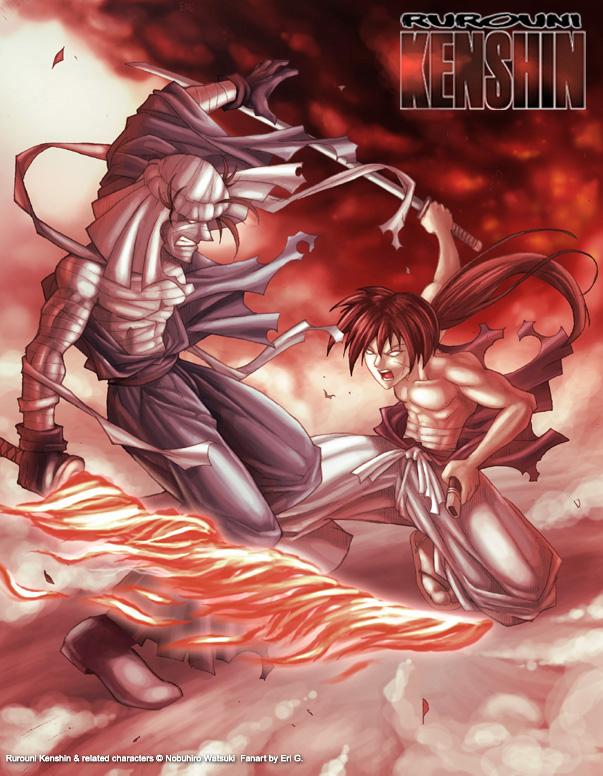 Kenshin vs Shishio (with boots) by Gaudiamo