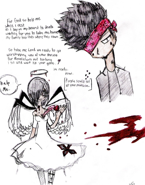 Purple souls sit at your mansion by Gerardway2008