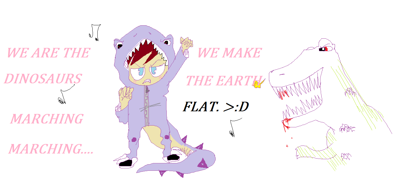 we make the earth flat. by Gerardway2008