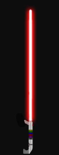 Sith Lightsaber 2 (Red) by GoldenRhydon