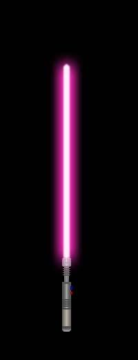 Jedi Lightsaber 6 (Pink) by GoldenRhydon