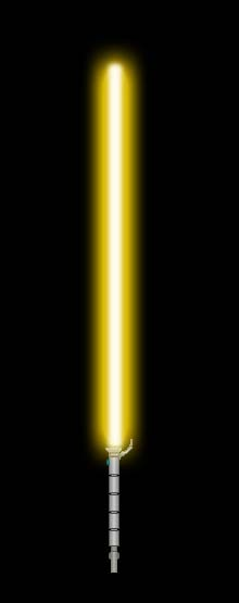 Independent Warrior's Lightsaber 1 (goldenrod) by GoldenRhydon