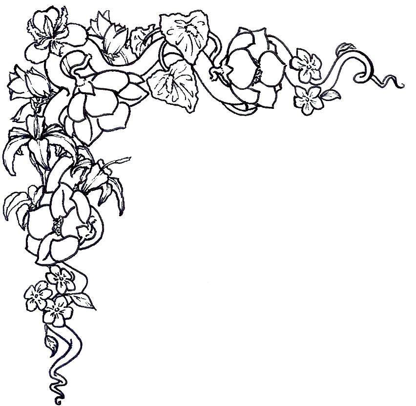 free flower border clip art. Flower Border Clip Art