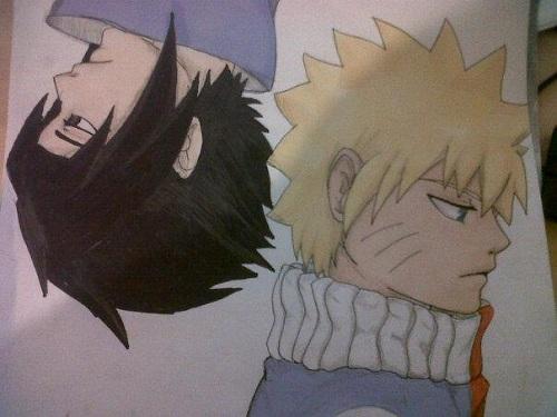 Sasuke & Naruto; Kizuna by Gracie-Chan
