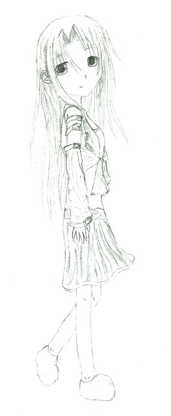Girl in a Skirt by GreenPaint