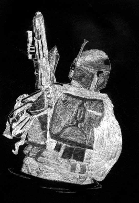 Boba Fett (negative) by GreyJedi