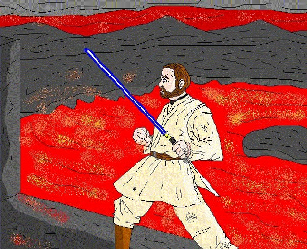Obi-wan on Mustafar by GrievousPark