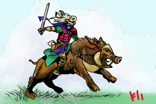 Frey and the War Hog by Grok