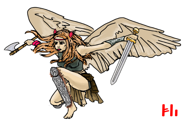 Two handed valkyrie by Grok