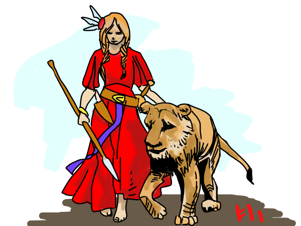 the Valkyrie and the Lioness by Grok