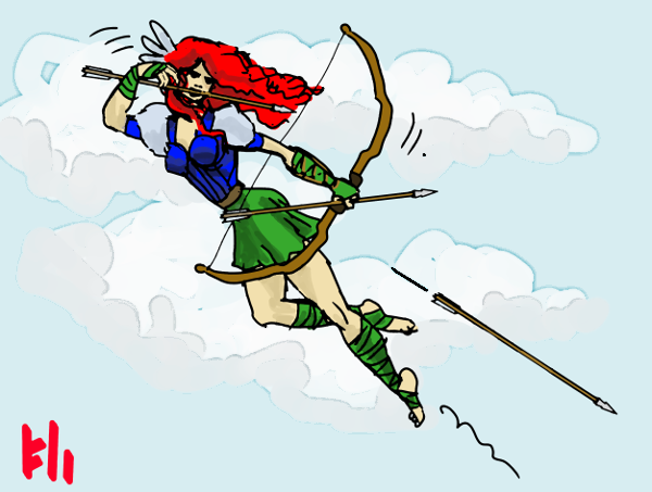 Jumping archer by Grok