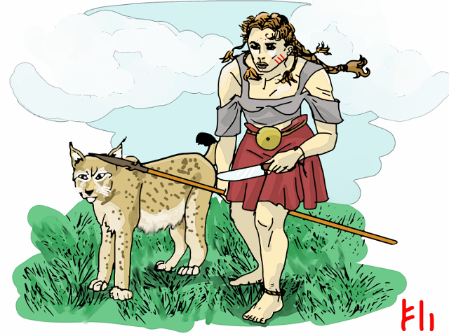 Skade on the Hunt by Grok