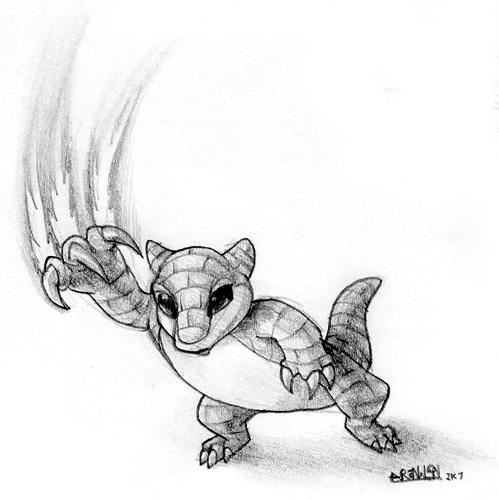 Sandshrew SLASH! by GrowlyBear