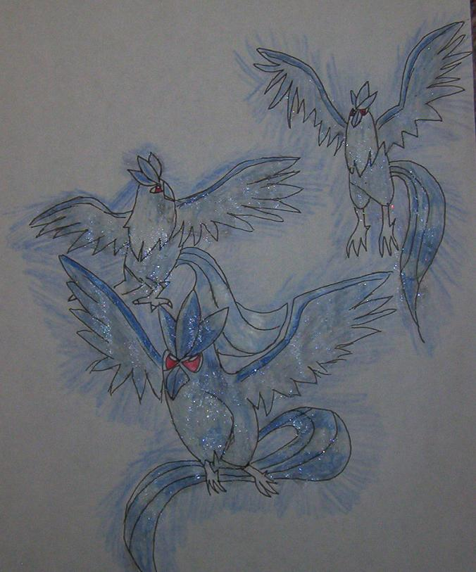 Articuno trio by Guardian_angel