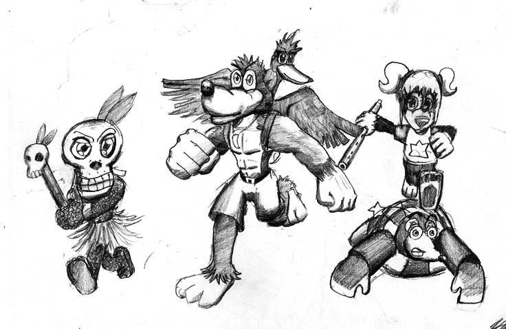 Banjo and the gang by gamefox120