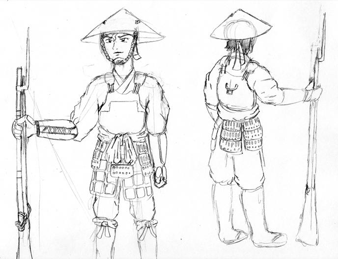 ashigaru concept 1 by gamefox120