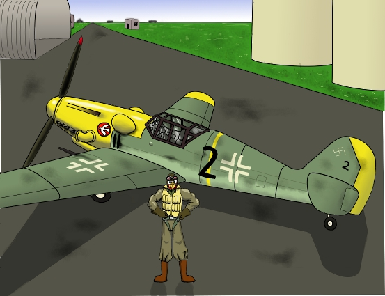 Robin and his Bf-109 by gamefox120