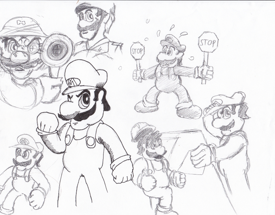 out standing citizen: Mario by gamefox120
