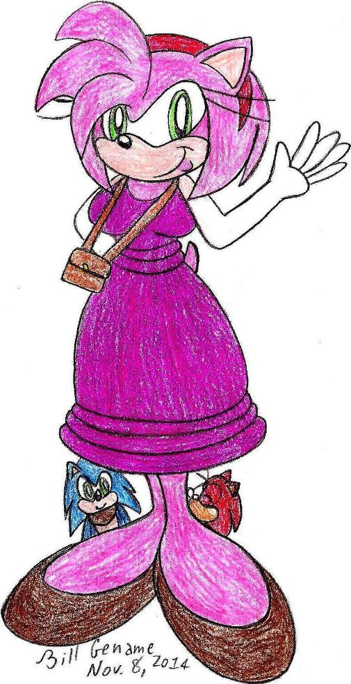 Sonic Boom: Amy's Got a Brand New Dress! by germanname