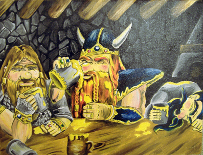dwarves drunk by gillian