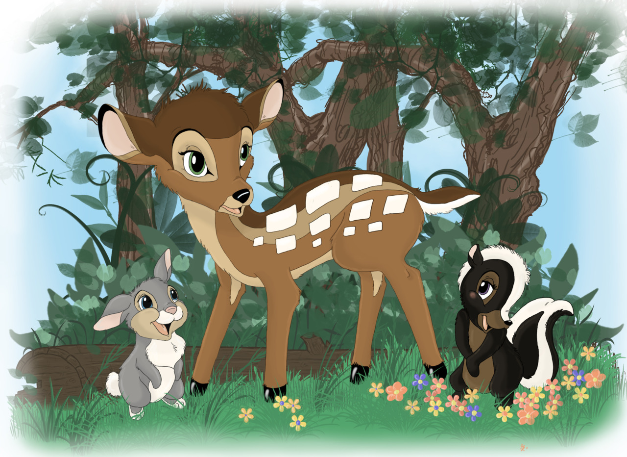 Bambi by gillustrations