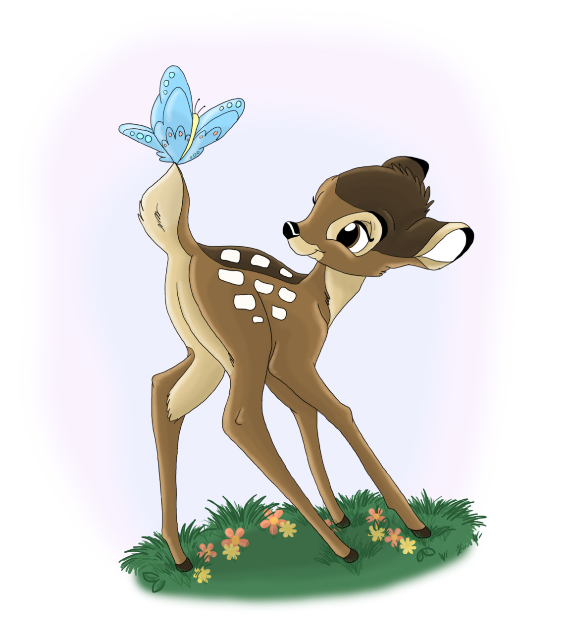 Bambi's classic pose by gillustrations