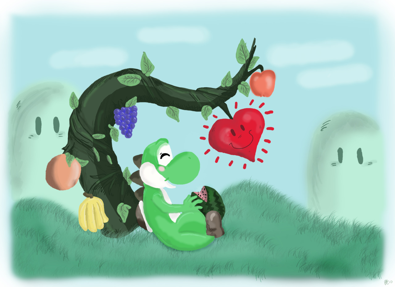 Yoshi's Super Happy Tree by gillustrations