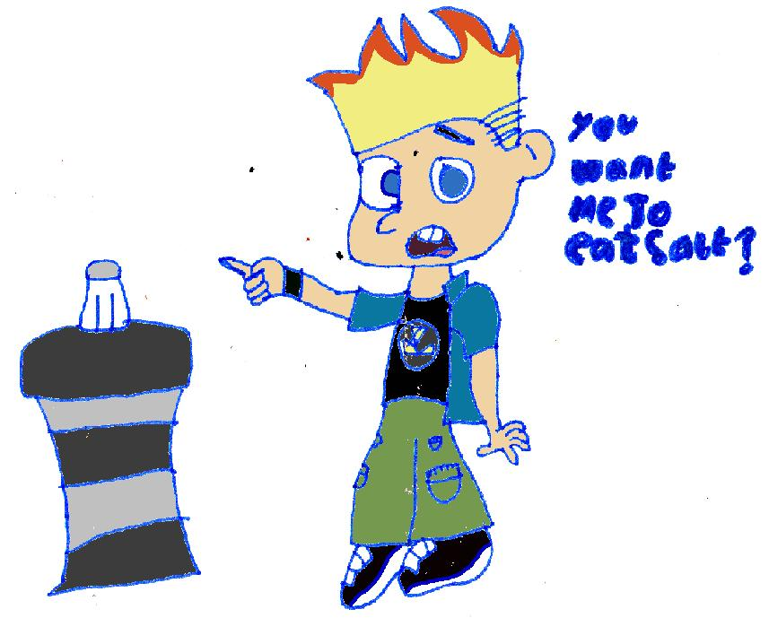 Johnny test you want me to eat salt by ginathehedgehog