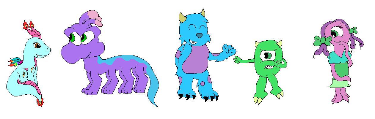 Monsters, Inc. Childhood by ginathehedgehog