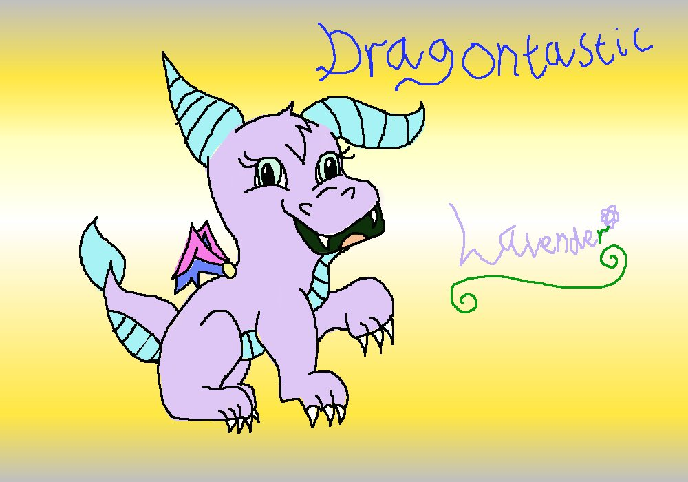 Dragontastic - Lavender by ginathehedgehog