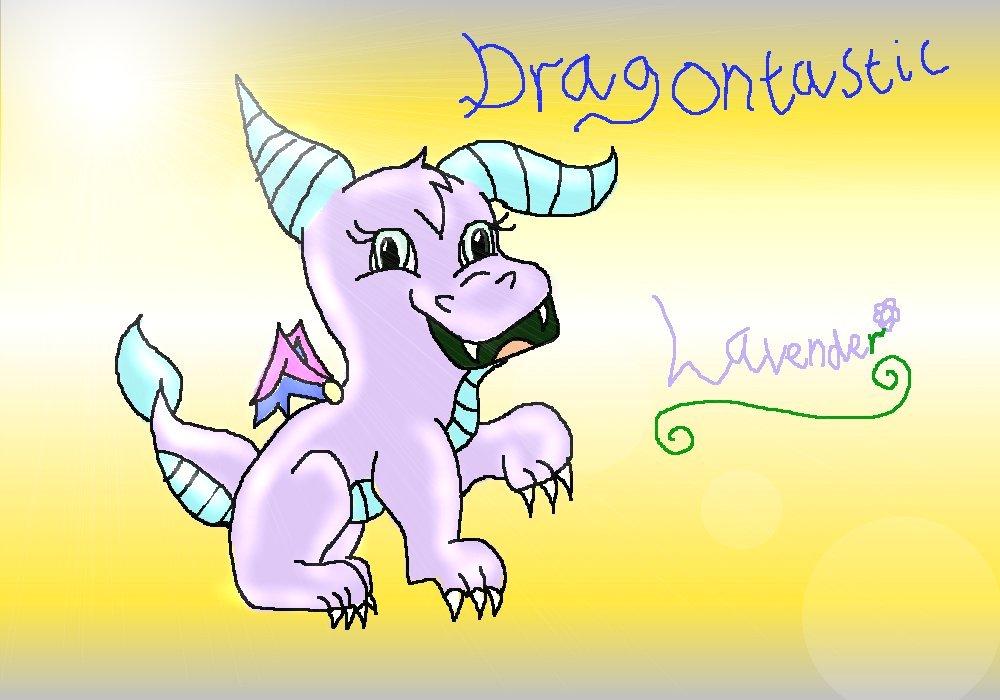 Dragontastic - Lavender (Edited) by ginathehedgehog