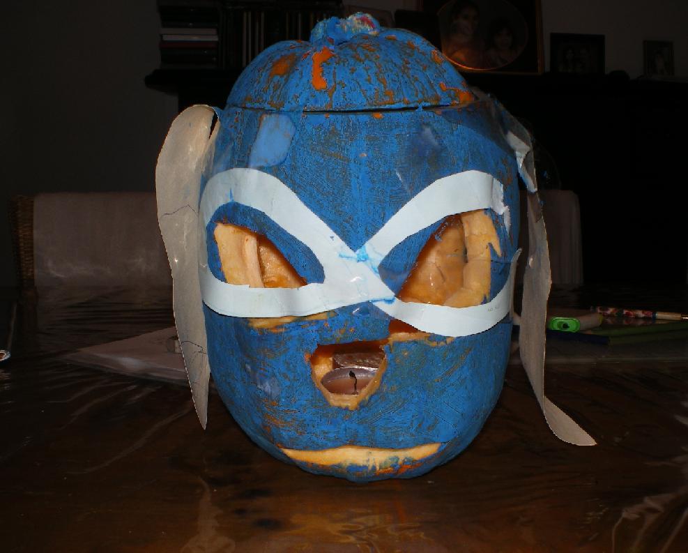 Experiment 626 Stitch Pumpkin by ginathehedgehog