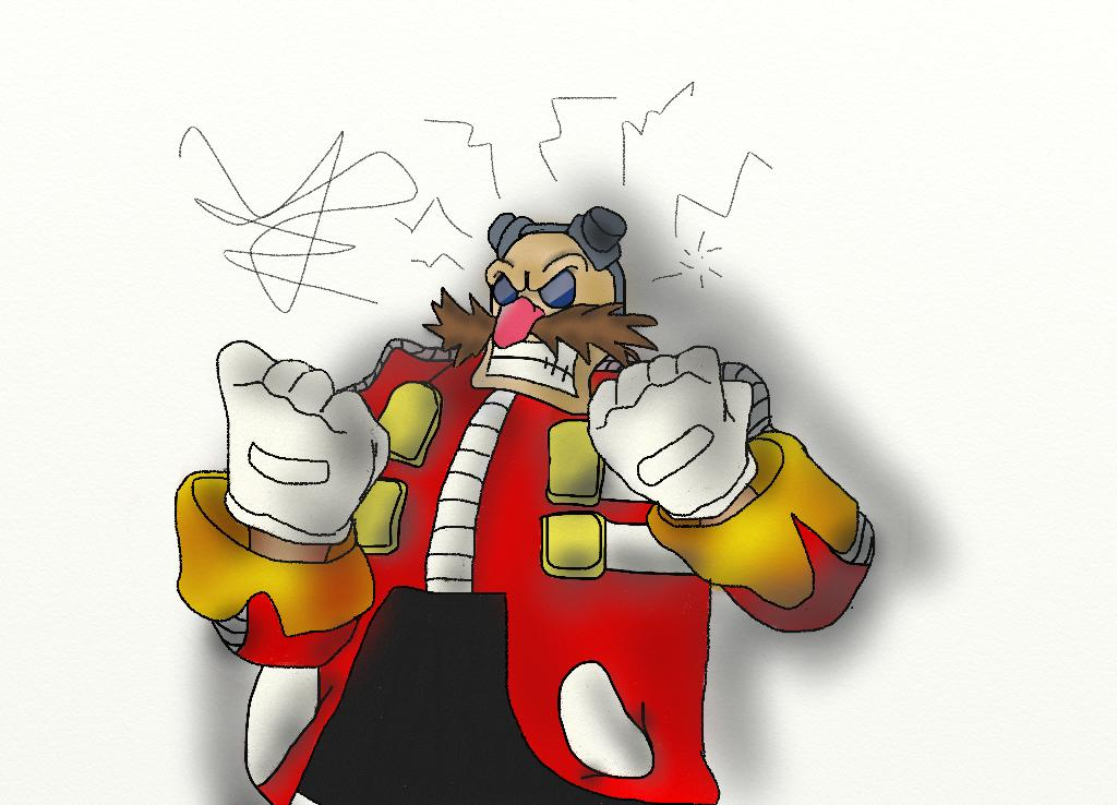 Eggman (amateur drawing with mousepad) by glukkon7