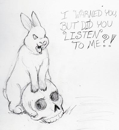 Evil Bunny by gohstann